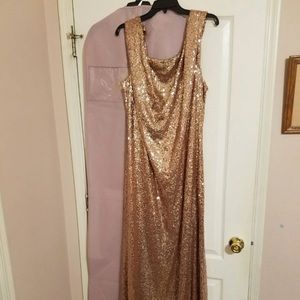 Revelry Dress Rose Gold
